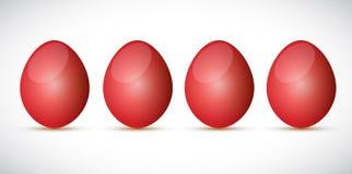 Red egg set illustration design Stock Photos