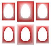 Red egg shaped frame collection Royalty Free Stock Photos