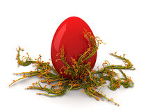 Red Egg Twirls Stock Image