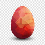 Red egg. Vector illustration Royalty Free Stock Photography