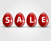 Red eggs sale Royalty Free Stock Photo