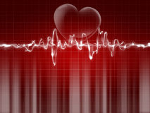 Red ekg tracing Stock Photo