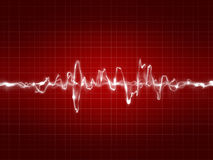 Red ekg tracing Stock Photos