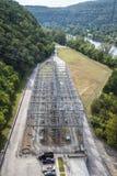 Red eléctrica de la presa de los bajíos de Bull Fotografía de archivo