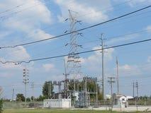 Red eléctrica eléctrica Imagenes de archivo