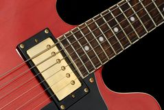 Red Elecric Guitr Close-up Royalty Free Stock Photos