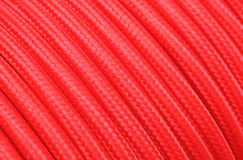 Red electric cable as texture Stock Photo
