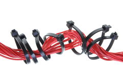 Red electric cable Stock Photos