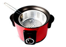 Red Electric Cooker Stock Photo
