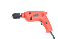 Red electric drill Royalty Free Stock Photography