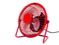 Red electric fan Stock Image