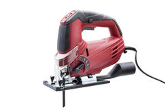 Red electric fretsaw Stock Photos