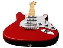 Red electric guitar Stock Photos