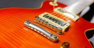 Red electric guitar Stock Photography