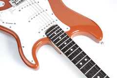 Red electric guitar Stock Image
