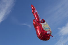 Red electric guitar air balloon Stock Images