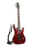 Red electric guitar with Clipping Paths Royalty Free Stock Photography