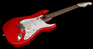 Red Electric Guitar. On Dark Background Stock Illustration