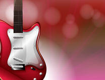 A red electric guitar Royalty Free Stock Images