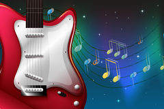 A red electric guitar Royalty Free Stock Photography