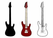 Red electric guitar. Vector illustration of an electric guitar, EPS 10 file Stock Illustration