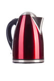 Red electric kettle Royalty Free Stock Images