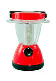Red electric lantern on white background Stock Photography