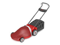 Red electric lawn mower Royalty Free Stock Photo