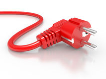 Red electric plug Royalty Free Stock Image