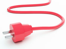 Red electric plug Royalty Free Stock Photos