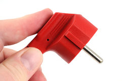 Free Red Electric Plug Royalty Free Stock Image - 7650436