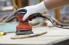 Red Electric Sander Royalty Free Stock Photography