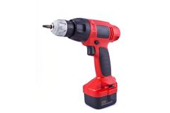 Red electric screw driver Royalty Free Stock Photography