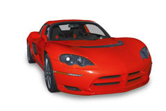 Red Electric Sports Car Stock Photography