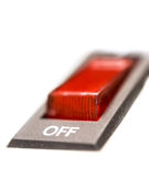 Red electric switch Royalty Free Stock Photo
