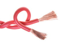 Red electrical cables Royalty Free Stock Image