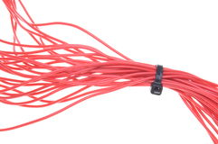 Red electrical cables Royalty Free Stock Images