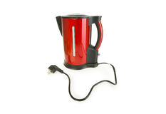 Red electrical kettle isolated Royalty Free Stock Photo