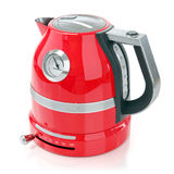 Red electrical kettle Royalty Free Stock Photography