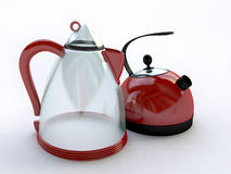 Red Electrical Kettles Royalty Free Stock Photos
