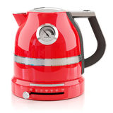 Red electrical modern kettle Royalty Free Stock Photos