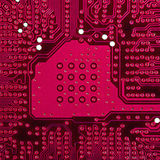Red electronic circuit board Royalty Free Stock Images
