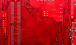 red electronic circuit board Royalty Free Stock Photography