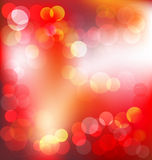 Red elegant abstract background with bokeh lights Stock Photo