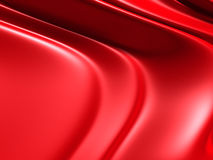 Red elegant background with waves and smooth lines Royalty Free Stock Image