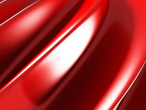 Red elegant background with waves and smooth lines. 3d render illustration Stock Images