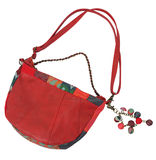 Red Elegant bag Stock Photo