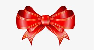 Red elegant bow Stock Images