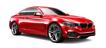 Red elegant coupe car Stock Photo