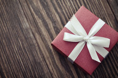 Red elegant gift box Royalty Free Stock Photography